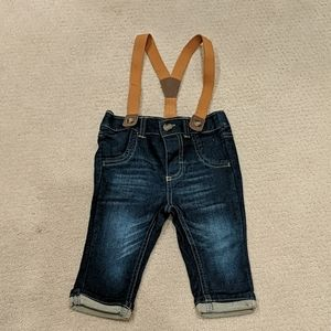 Cat & Jack Jeans with Suspenders (3-6 months)